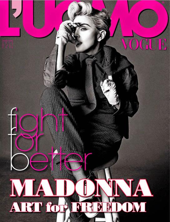 madonna L\'UOMO VOGUE 2014 | andy LECOMPTE